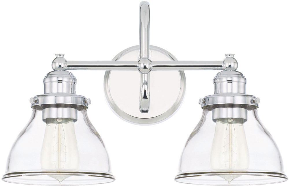 Capital Lighting 8302ch 461 Baxter Modern Chrome 2 Light Vanity Lighting Fixture