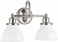 Capital Lighting 8302PN-128 Baxter Polished Nickel 2-Light Bathroom Sconce Lighting