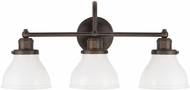 Capital Lighting 8303BB-128 Baxter Burnished Bronze 3-Light Bath Lighting Sconce