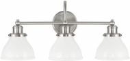 Capital Lighting 8303BN-128 Baxter Brushed Nickel 3-Light Bathroom Wall Light Fixture