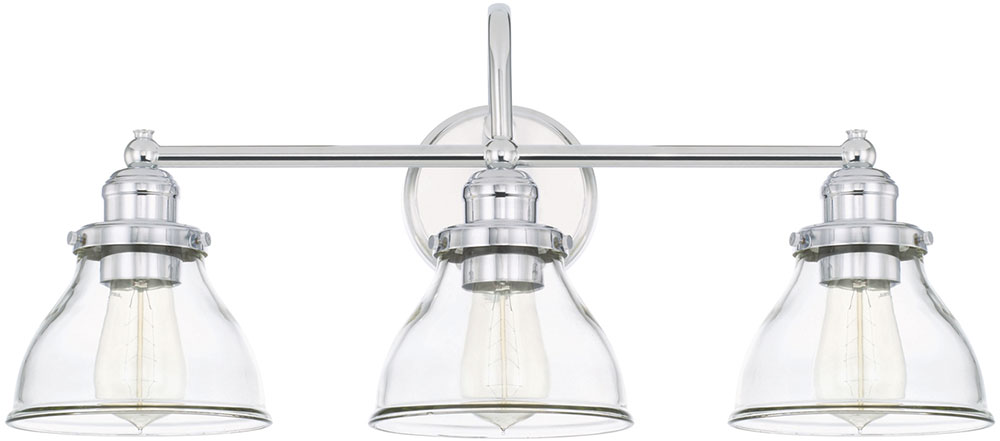 Capital Lighting 8303ch 461 Baxter Contemporary Chrome 3 Light Bathroom Vanity Light Fixture Cpt 8303ch 461