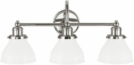 Capital Lighting 8303PN-128 Baxter Polished Nickel 3-Light Bathroom Lighting