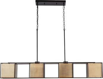 Capital Lighting 830941AB Paxton Contemporary Aged Brass and Black Island Light Fixture