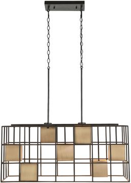 Capital Lighting 830971AB Paxton Contemporary Aged Brass and Black Island Lighting