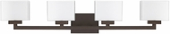 Capital Lighting 8344BB-155 Tahoe Modern Burnished Bronze 4-Light Vanity Lighting