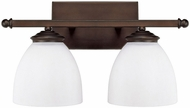 Capital Lighting 8402BB-202 Chapman Burnished Bronze 2-Light Bath Lighting Fixture