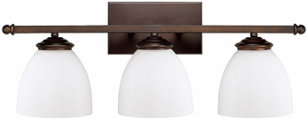 Capital Lighting 8403BB-202 Chapman Burnished Bronze 3-Light Bathroom Vanity Light