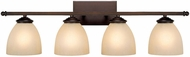 Capital Lighting 8404BB-201 Chapman Burnished Bronze 4-Light Bath Sconce
