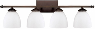 Capital Lighting 8404BB-202 Chapman Burnished Bronze 4-Light Vanity Light Fixture