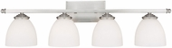 Capital Lighting 8404MN-202 Chapman Matte Nickel 4-Light Vanity Lighting Fixture