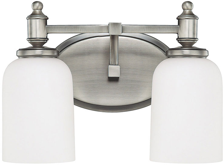 Capital Lighting AN Covington Antique Nickel Light - 2 light bathroom vanity fixture