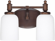 Capital Lighting 8442BB-102 Covington Burnished Bronze 2-Light Bathroom Wall Sconce