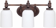 Capital Lighting 8443BB-102 Covington Burnished Bronze 3-Light Bathroom Light Sconce
