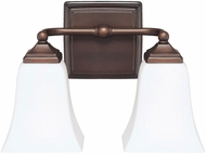 Capital Lighting 8452BB-119 Burnished Bronze 2-Light Bathroom Lighting Sconce