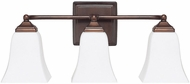 Capital Lighting 8453BB-119 Burnished Bronze 3-Light Bathroom Wall Light Fixture