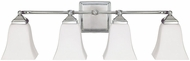 Capital Lighting 8454PN-119 Polished Nickel 4-Light Bathroom Lighting Fixture
