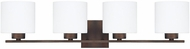 Capital Lighting 8494BB-103 Steele Burnished Bronze 4-Light Bathroom Vanity Light