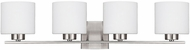 Capital Lighting 8494BN-103 Steele Brushed Nickel 4-Light Bathroom Sconce