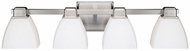 Capital Lighting 8514BN-216 Brushed Nickel 4-Light Bathroom Sconce Lighting