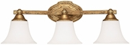 Capital Lighting 8523AG-114 Blakely Traditional Antique Gold 3-Light Bath Lighting