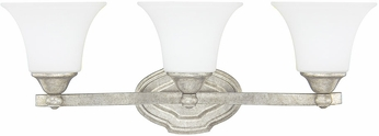 Capital Lighting 8523AS-114 Blakely Traditional Antique Silver 3-Light Bathroom Lighting Fixture
