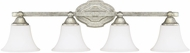 Capital Lighting 8524AS-114 Blakely Traditional Antique Silver 4-Light Bath Light Fixture
