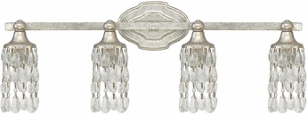 Capital Lighting 8524AS-CR Blakely Antique Silver 4-Light Bath Lighting Fixture