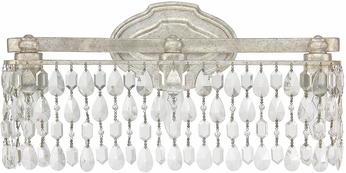 Capital Lighting 8528AS-CR Blakely Antique Silver 3-Light Bathroom Light Fixture