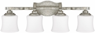 Capital Lighting 8554AS-299 Blair Traditional Antique Silver 4-Light Vanity Lighting Fixture