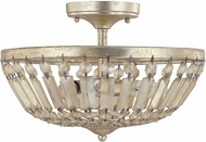 Capital Lighting 9173WG Fifth Avenue Winter Gold Semi-Flush Overhead Lighting Fixture