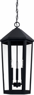Capital Lighting 926933BK Ellsworth Black Exterior Drop Ceiling Light Fixture