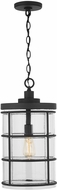 Capital Lighting 929412BK-478 Modern Black Outdoor Ceiling Pendant Light