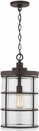 Capital Lighting 929412OZ-478 Contemporary Oiled Bronze Exterior Drop Ceiling Light Fixture