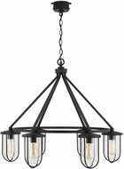 Capital Lighting 934261BK Corbin Contemporary Black Exterior Chandelier Light