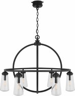 Capital Lighting 934361BK Modern Black Outdoor Chandelier Lighting