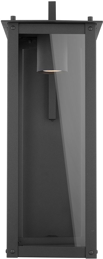 Capital Lighting 934612bk Gl Hunt Black Led Outdoor Wall Sconce