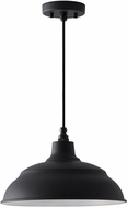 Capital Lighting 936311BK RLM Black 14  Pendant Lighting Fixture