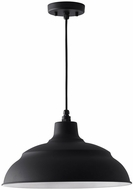 Capital Lighting 936312BK RLM Black 17  Hanging Lamp