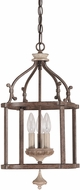 Capital Lighting 9471FO Chateau Traditional French Oak Foyer Lighting Fixture