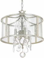 Capital Lighting 9484AS-CR Blakely Antique Silver Pendant Lamp