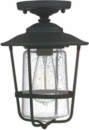 Capital Lighting 9607BK Creekside Black Outdoor Flush Mount Light Fixture