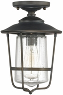 Capital Lighting 9607OB Creekside Old Bronze Exterior Flush Mount Lighting Fixture