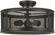 Capital Lighting 9617OB Dylan Old Bronze Exterior Semi-Flush Flush Mount Ceiling Light Fixture