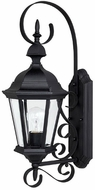 Capital Lighting 9721BK Carriage House Traditional Black Exterior Wall Lighting Fixture