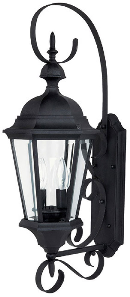 Capital Lighting 9722bk Carriage House Traditional Black Exterior Wall Sconce Light Cpt 9722bk