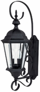 Capital Lighting 9722BK Carriage House Traditional Black Exterior Wall Sconce Light