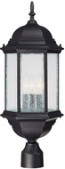 Capital Lighting 9837BK Main Street Traditional Black Exterior Post Light Fixture