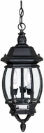 Capital Lighting 9864BK French Country Traditional Black Exterior Pendant Light Fixture