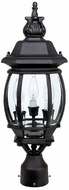 Capital Lighting 9865BK French Country Traditional Black Outdoor Lamp Post Light Fixture