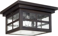 Capital Lighting 9917OB Preston Old Bronze Outdoor Flush Mount Lighting Fixture